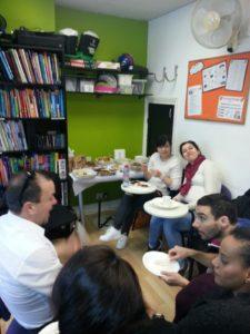Eating nice food at Ingla International Food Day