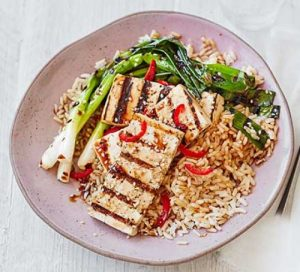 charred-spring-onions-teriyaki-tofu