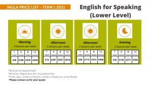 Ingla Price List - Term 1 2021 Speaking (Lower)