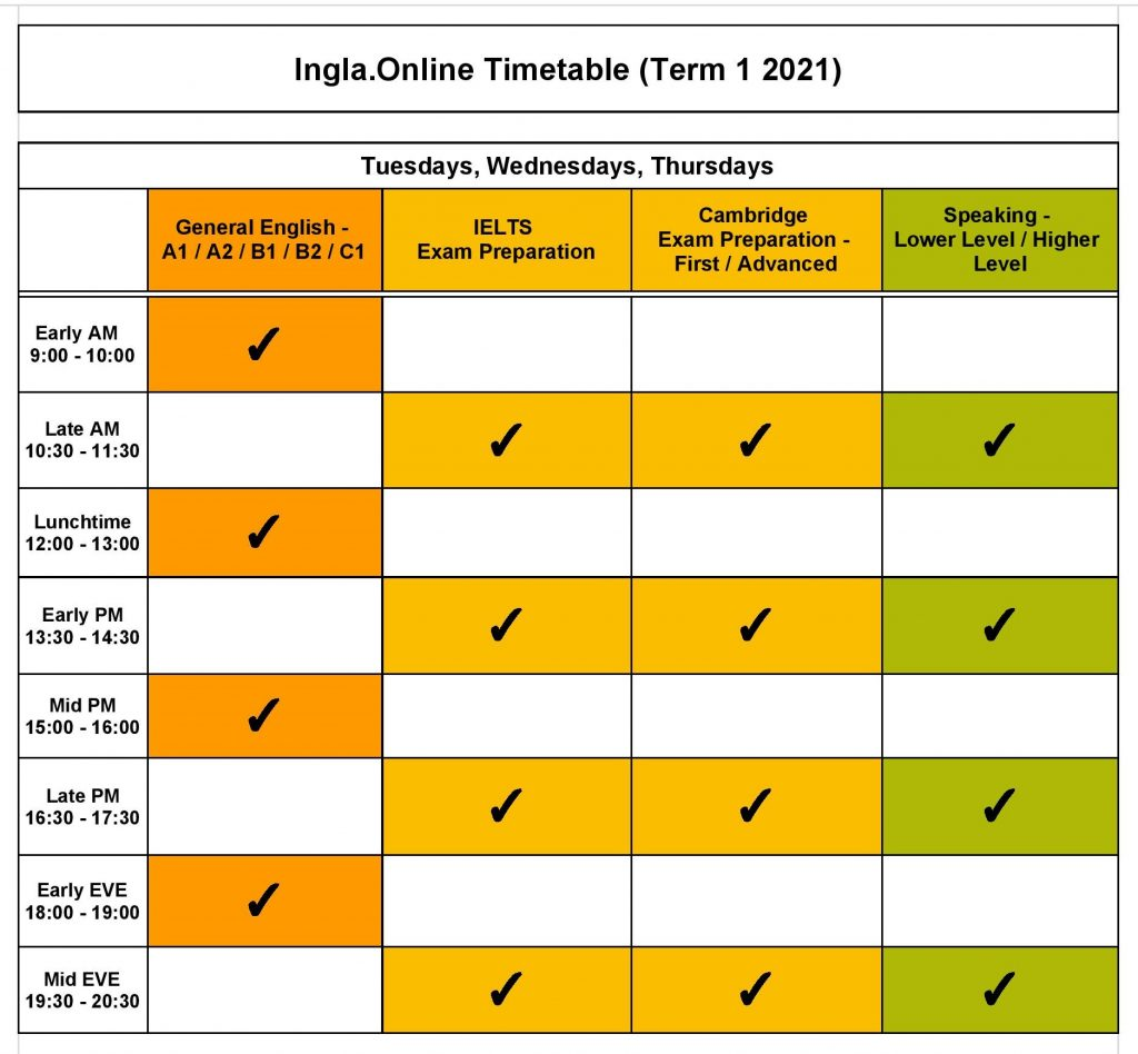 Ingla.Online TimeTable 2021 -002