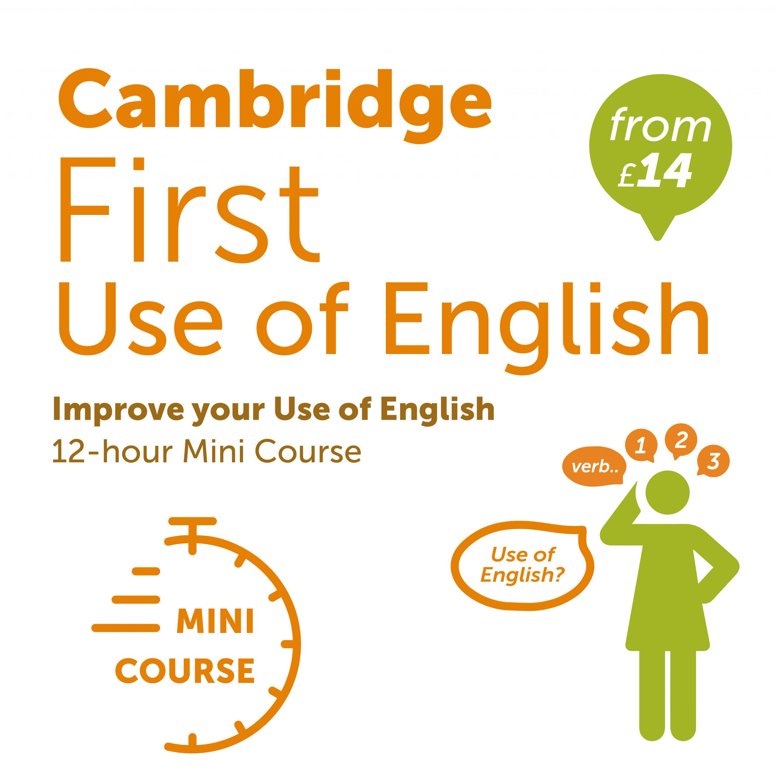 Cambridge First Use of English Online Logo