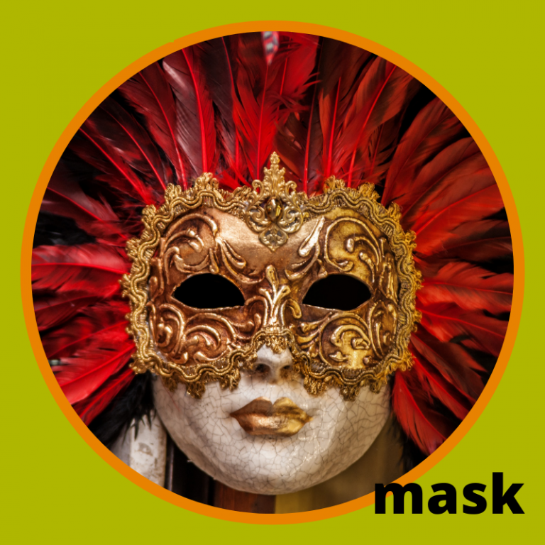 Carnival Vocabulary Words MASK