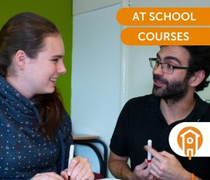 face to face - in person - at school english courses