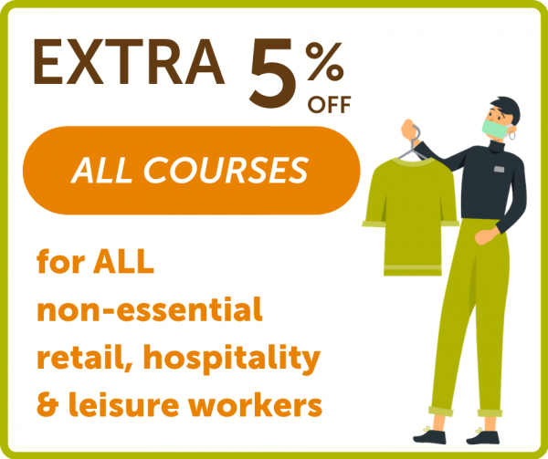 Extra 5% Off for non-essential workers