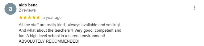 Ingla School of English Google reviews 6