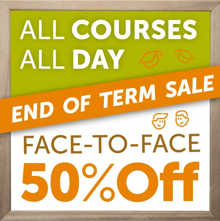 End of Term Sale May 2021 50OFF all English Courses