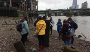 Mudlarking at Thames