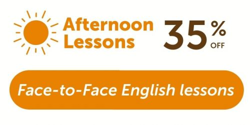 Afternoon lessons 35% off discount-offer